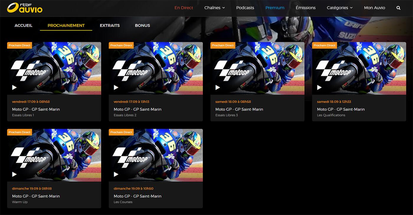 Programme TV MotoGP GP Saint-Marin