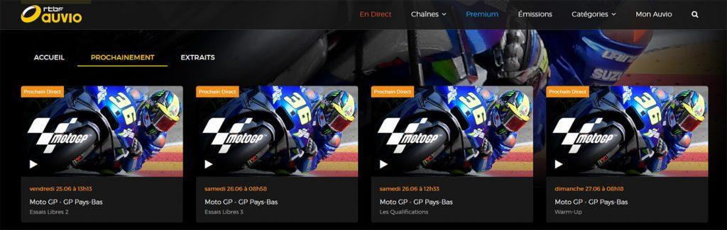 Programme TV RTBF MotoGP GP Pays-Bas